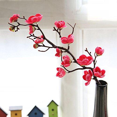 URSING Künstliche Seide gefälschte Blumen Pflaumenblüte Blumen Hochzeit Blumenstrauß Party Dekor Wohnaccessoires & Deko Kunstblumen Künstliche Blumen Hochzeit Home Decor Blume (A)