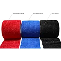 3 Stück selbsthaftende Bandagen/Fixierbinde / Verband/Wundverband / Pflasterverband/Tierverband - kohäsiv, latexfrei, elastisch - 5cm x 4,5m