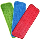 AASTIK 3 Pcs Microfiber Reusable and Washable Microfiber Spray Mop Pad Dust Cleaning Mop Head Cloth Pads Spray Mop Pad Cleani