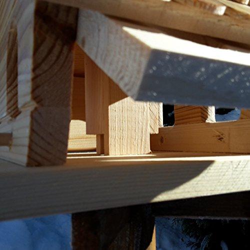Vogelhaus-XL Braun- Vogelhäuser-Vogelfutterhaus Vogelhäuschen-aus Holz Wetterschutz Putzklappe - 5
