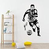 Classico Real Madrid giocatore di calcio vinile adesivo Adesivo per camera dei bambini soggiorno Home Decor per bambini Camere 43 * 75 cm