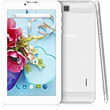 Yuntab New E706 - 3G Tablet de 7 pulgadas Aleación Metal atrás ( 1,3GHZ Quad-Core, 8GB, Resolución HD de 1024x600, Google Android 5.1 , Dual SIM, 3G+WIFI, Bluetooth, Doble Cámara) (plata)
