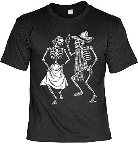 Tanzende Skelette Dia de los Muertos Tag der Toten T-Shirt Sugar Skull Tattoo Gr. XXL : (Gothic Tod Der Kostüme)