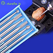 New trends ABCDEF type 6pcs set carving tools Router Bits dremel for jewelry engraving olive wood woodworking cutter MT015
