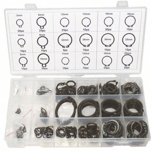Sicherungsring Sprengring Seegering Sortiment Kassette aussen 3-32 mm 300 tlg. (im Aufbewahrungsbox/Sortimentsbox)