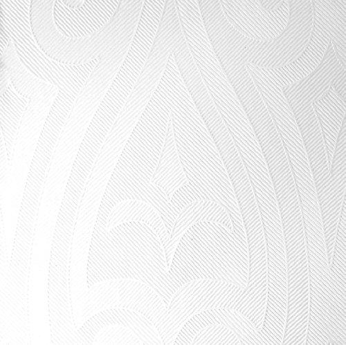 Duni Elegance-Servietten Lily 40er weiß, 40 x 40 cm (Weiße Servietten Dicke,)