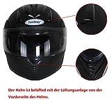 Yorbay Motorradhelm Integralhelm Doppelvisier mit integrierter Sonnerblende in verschienden Größen (XL, Schwarz matt) - 3