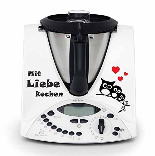 """Autocollant pour robot thermomix-motif """"love"""" avec de cuisine haute qualité, stickers et durable-nombreux coloris disponibles-tMX 31 thermomix tM31 autocollants skin"""