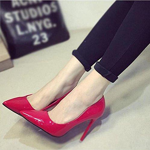 XiuHong Shop D-0001G Damen Hochhackige Schuhe Rote