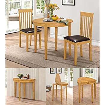 HGG Dining Table Set with 2 Chairs - Rubberwood Furniture - Small Table and 2 Chairs  sc 1 st  Amazon UK & HGG Dining Table Set with 2 Chairs - Rubberwood Furniture - Small ...