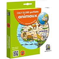 Caly Sarl - 057F - Globe Gonflable - Animaux - Taille 30 cm