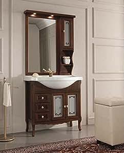 Arredo bagno classico 85 cm mobile bagno arte povera con for Amazon arredo bagno