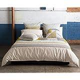 Kas Australia.- Conjunto de funda nordica Seb para cama de 180 (funda nordica en medida 260x240 + 2 fundas de almohada de 50x90)