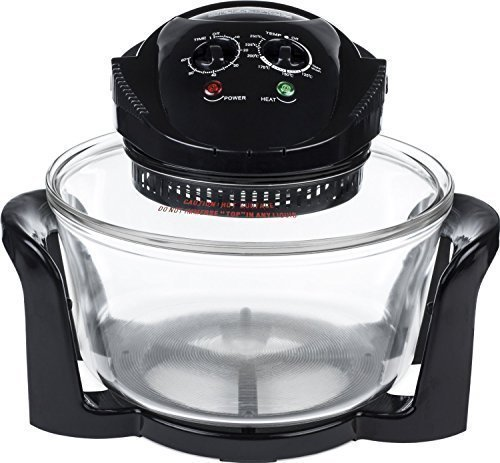 Andrew James Halogen Mini Oven | 12L Electric with Adjustable Temperature Control Timer and ...
