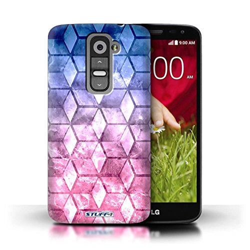Kobalt® Imprimé Etui / Coque pour LG G2 Mini/D620 / Bleu/rose conception / Série Cubes colorés Bleu/rose