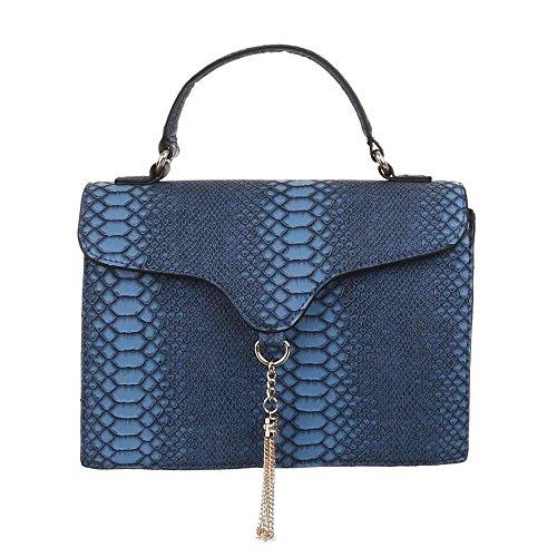 Ital-DesignSchultertasche bei Ital-Design - Borsa a spalla Donna Blu (blu)