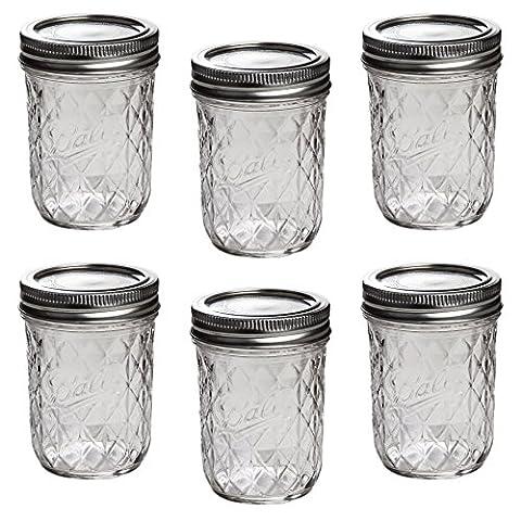 Ball Mason Quilted Crystal Jelly Jar 8oz/6er Set