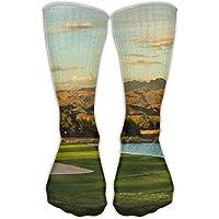 hat pillow Beautiful Golf Course Unisex Sports Socks Tube Socks Knee High Compression Sports Athletic Socks Tube Stockings Long Socks