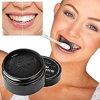 Bonjouree - Polvo de blanqueamiento dental–Dentífrico blanqueador orgánico natural con carbón activado de bambú