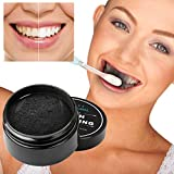 Bonjouree - Polvere sbiancante per denti naturali, dentifricio al carbone di bambù