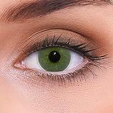 """Stark deckende natürliche grüne Kontaktlinsen farbig """"Platinum Green"""" + Behälter von LENZOTICA I 1 Paar (2 Stück) I DIA 14.00 I mit Stärke I -1.00 Dioptrien"""