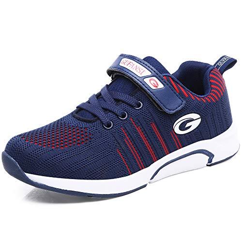GUFANSI Turnschuhe Mädchen Sportschuhe Jungen Hallenschuhe Kinder Sneaker Laufschuhe Kinderschuhe Sport Schuhe Outdoor für Sommer Unisex-Kinder Blau 26