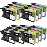 20 XL Colour Direct Compatible Ink Cartridges Replacement For Brother LC1220 LC1240 - MFC-J280W, MFC-J425W, MFC-J430W, MFC-J435W, MFC-J5910DW, MFC-J625DW, MFC-J6510DW, MFC-J6710DW, MFC-J6910DW, MFC-J825DW, MFC-J835DW, DCP-J525W, DCP-J725DW, DCP-J925DW