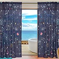 2 Panels Raum Fenstervorhang Verdunkelung thermisch isoliert Grauer Wolf