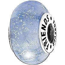 Azul SPARKLE Forever Friends cuenta para pulsera–plata de ley 925–Compatible con Pandora, Biagi y pulseras de Troll
