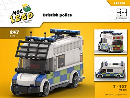 British police (Instruction Only): MOC LEGO (English Edition) Van Moc