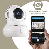 Kamera IP Full HD littlelf, Wireless Monitor 350° Pan und 105° Neigung Kontrollierte Remote durch die Anwendungen, Startseite Überwachung CCTV Cam, 3D Kamera Panorama, Fernüberwachung Baby und animaux- Weitwinkel, 2-Wege Audio, Bewegungserkennung, Nachtsicht, Botschaft Warnsystem, nicht Abo-Gebühren 720p Blanche