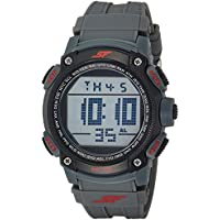 Sonata Fibre (SF) Digital Grey Dial Men's Watch-77073PP02