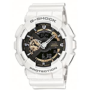 Casio GA-110RG-7A - Reloj de cuarzo para hombre, correa de resina color blanco de Casio
