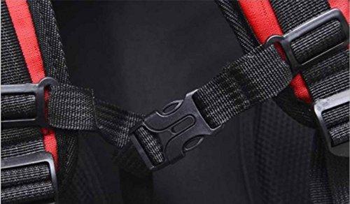 AllureFeng Reise-Outdoor-Bergsport Tasche Umhängetaschen für Männer und Frauen außerhalb großer Kapazität wasserdichter Rucksack Light Blue