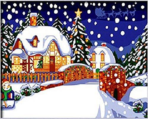 Pintura Por Número Establecido Para Niño Adulto Nivel Superior Feliz Navidad...