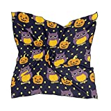 TGSCBN Halloween Owls And Pumpkins Square Scarf Head Wrap Hair Scarves