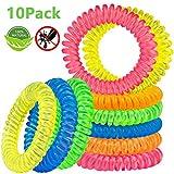 Beikell Bracelet Anti-Moustique [Lot de 10], Bracelets Anti-Moustiques 100% Naturel Huile Essentielle[sans DEET] - 250h Protection Intérieure et Extérieure pour Enfants et Adultes