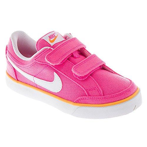 Nike Capri 3 Txt (Psv), Chaussures de Tennis Fille Multicolore - Rosa / Blanco / Amarillo (Pink Glow / White-Atomic Mango)