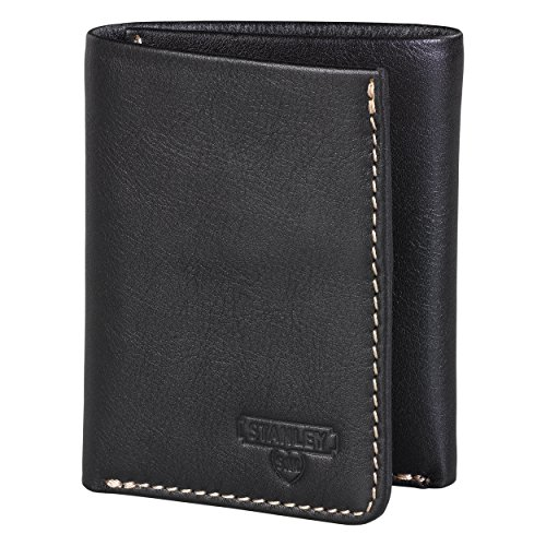 Preisvergleich Produktbild Stanley Tools Black & Tan Tri-fold Wallet Münzbörse, 13 cm, Schwarz (Black Tan)