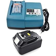 Batería y cargador para herramienta Makita Baterías BL18303,0Ah 18V Ion de litio de repuesto para DC18RA DC18RC 194337–6