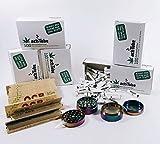 Kogu Set 500 x actiTube Aktivkohlefilter Inklusive Grinder Sowie 480 x OCB Organic Smoking Papers