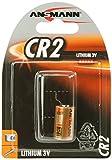 ANSMANN CR2 (3V) Lithium Photobatterie (10-er Pack) für Garagentoröffner, Alarmanlage, Funkauslöser für Kamera, Messgeräte, Klingel usw.