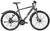Herren Fahrrad 28 Zoll - Bulls Cross Street - Shimano 27-Gang Kettenschaltung, Suntour Federgabel, grau matt