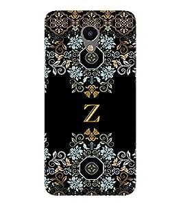 99sublimation floral pattern cloth design alphabet Z Designer Back Case Cover for Meizu M2