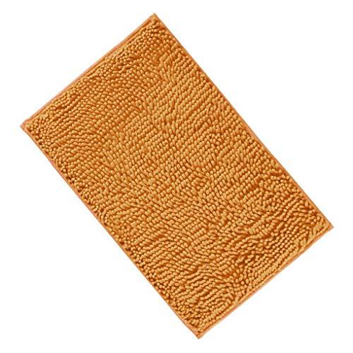 Demino Innen Fußmatte Chenille-Fuss-Auflage Badezimmer Anti Slip Teppiche WC Anti-Rutsch-Teppiche für Küche Flur Chroma 50 * 80cm