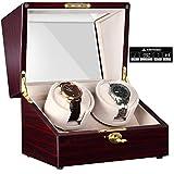 CHIYODA Scatole Carica Orologi Automatici per 2 Orologi, Doppio Watch Winder con Motore Silenzioso e Touch LCD Display Digitale