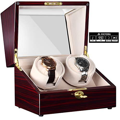 CHIYODA Automatische Uhrenbeweger mit Ruhiger Mabuchi Motor, LCD-Digitalanzeige