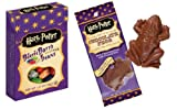 """Bertie Bott's Every Flavour Beans! Delicious """"normal"""" jelly beans are mixed with crazy, creepy flavors in a 20-flavor magical medley!Harry Potter Famous Chocolate Frog with Crisped Rice and each pack contains a collectible Wizard card."""