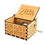 MINSOTO The Legend of Zelda Film Thema Antik Carved Musik Box Handkurbel aus Holz Spieluhr Spielzeug