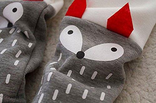 Completo-Invernale-per-Bimba-Bambina-Animato-Volpe-Rosso-Abbigliamento-Termico-Set-Felpa-Pantaloni-Felpati-by-Gaorui